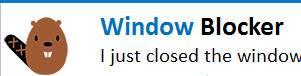всплывающее окно с бобром