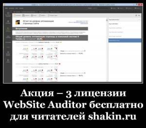 Акция – 3 лицензии WebSite Auditor бесплатно для читателей shakin.ru
