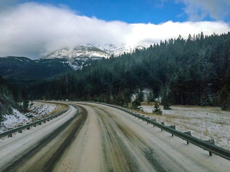Трасса US Highway 2E в Монтане
