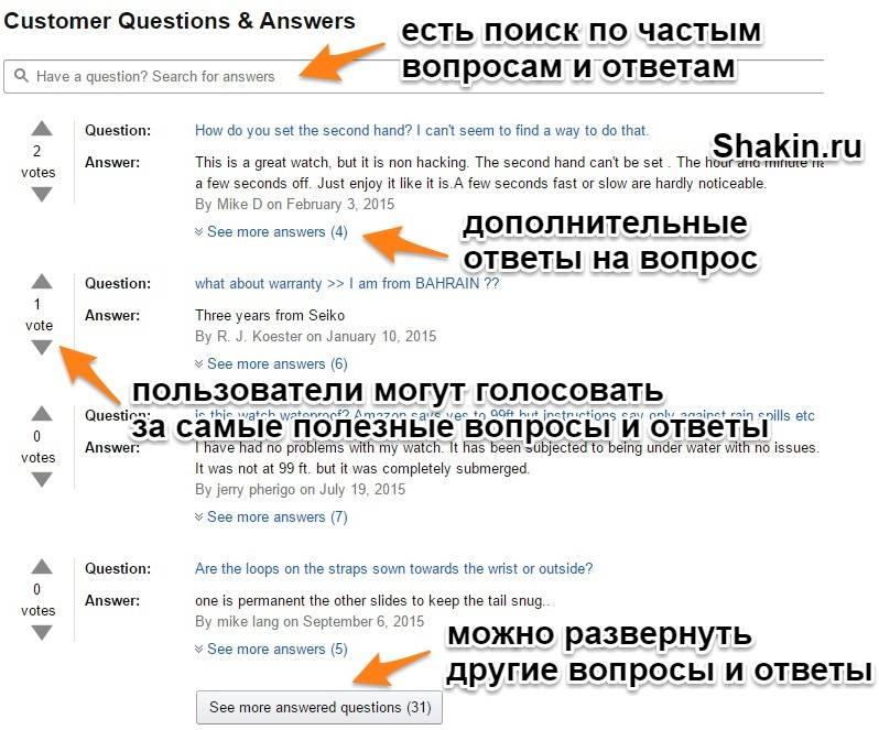 Амазон ответы на часто задаваемые вопросы