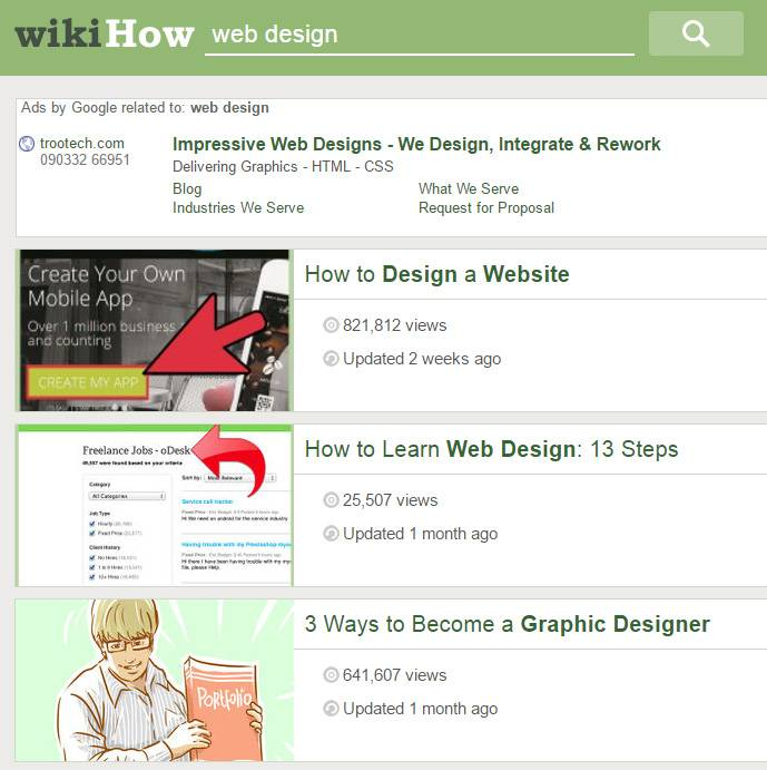 запрос по веб-дизайну