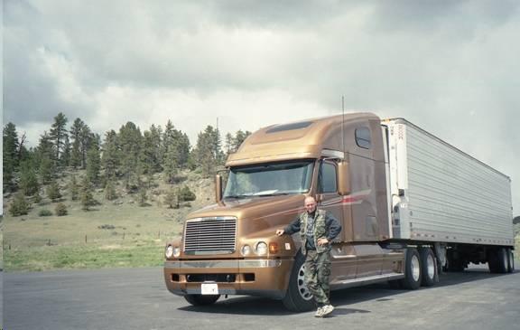 Я водил большой грузовик Freightliner Century