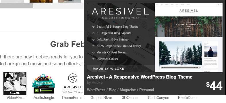 можно бесплатно скачать адаптивную тему для WordPress