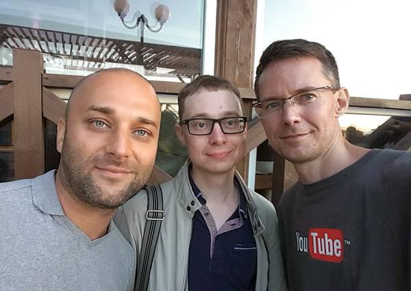 C Дмитрием Удимовым и Алексеем Трудовым