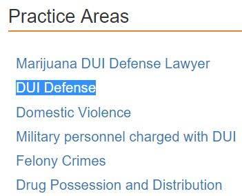 Одна из специализаций этого адвоката