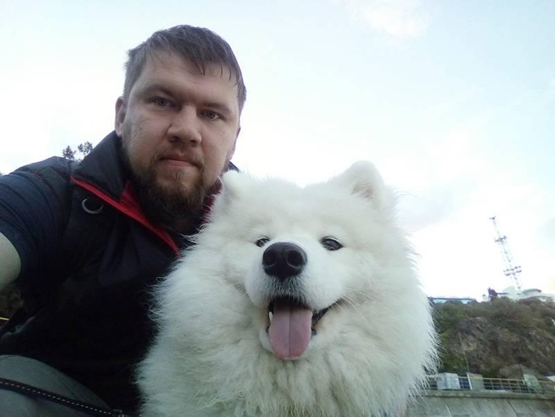 Виктор с собакой