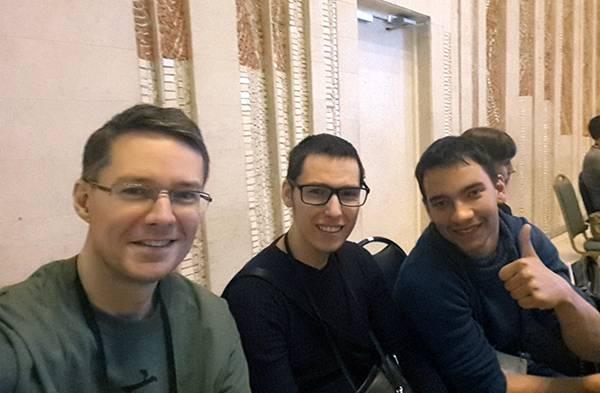 С Артуром Фаткуллиным и Виктором Кудрявцевым