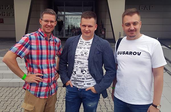 С Дмитрием Голополосовым и Андреем Гусаровым