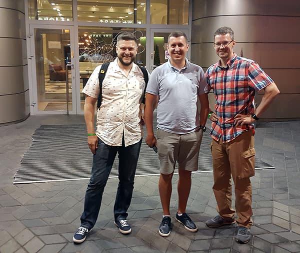 с Константином Карпаловым и Михаилом Зеенко