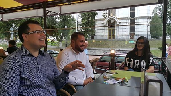 С Дмитрием Петренко и Евгением Шестаковым