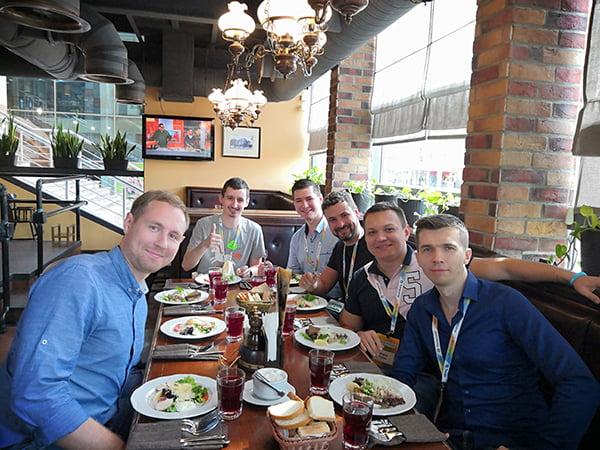 обед на конференции