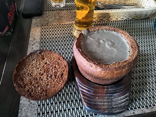 грибной суп в ресторане Тетка Фишер