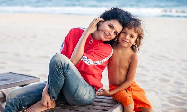 Анна Ященко с сыном