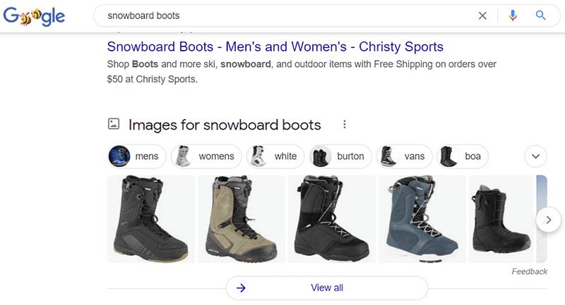 блок картинок в выдаче google